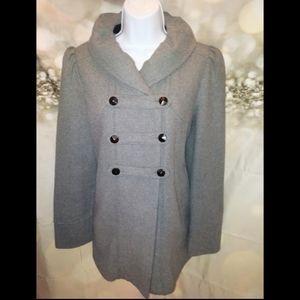 Banana republic gray wool pea coat/military jacket